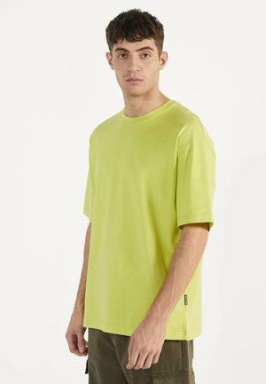 Jednoduché triko - neon yellow