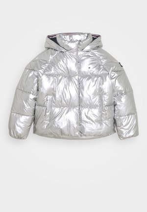 METALLIC PUFFER JACKET - Zimní bunda - grey