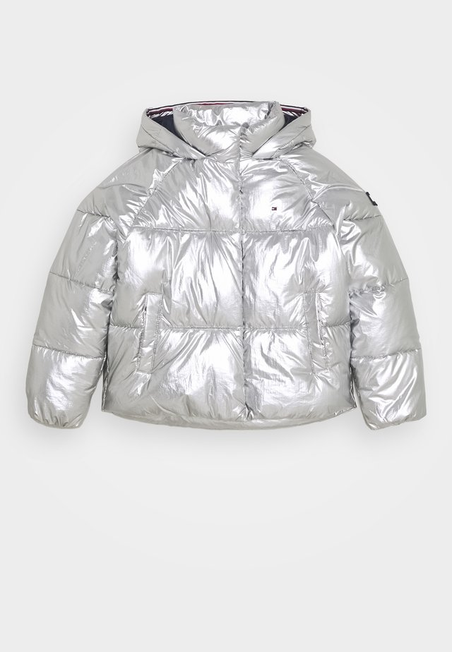 METALLIC PUFFER JACKET - Chaqueta de invierno - grey