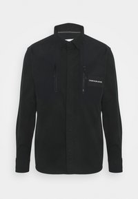 Calvin Klein Jeans - MIXED MEDIA OVERSHIRT - Shirt - black - 0