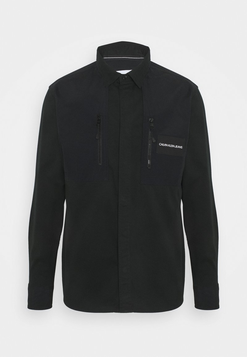 Calvin Klein Jeans - MIXED MEDIA OVERSHIRT - Shirt - black
