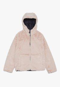 Abercrombie & Fitch - COZY PUFFER - Zimní bunda - navy/pink - 2