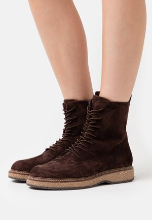 BOOTS  - Platform ankle boots - mocca