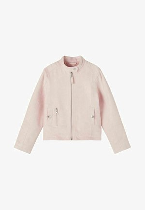 Faux leather jacket - peachskin
