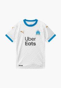 Puma - OLYMPIQUE MARSAILLE HOME REPLICA - Klubové oblečení - white/bleu azur - 0