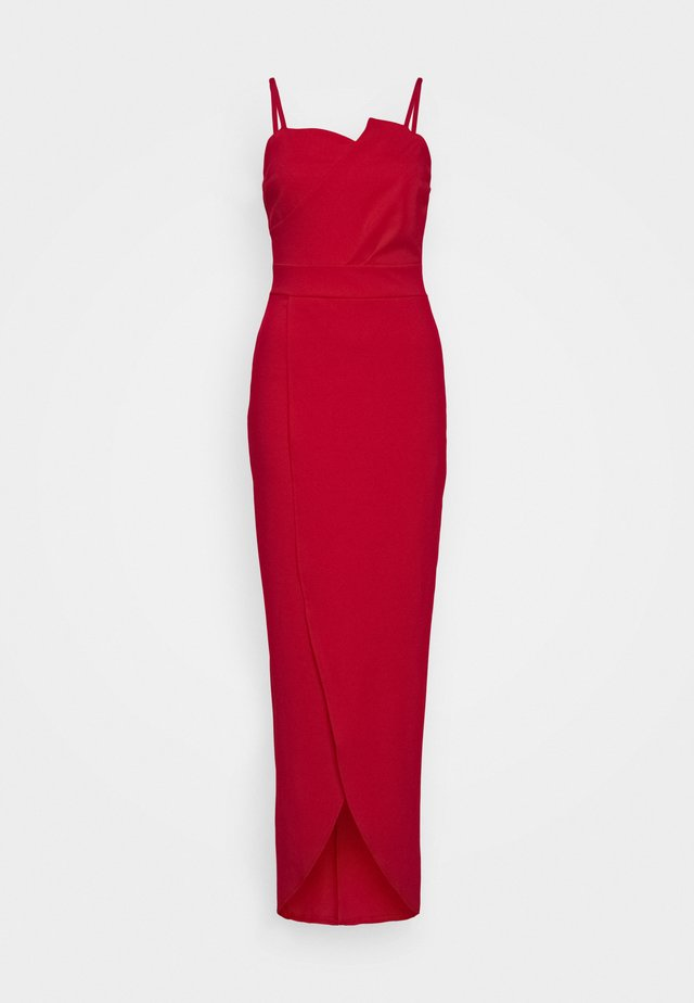 PANEL DETAIL LONG DRESS - Robe de cocktail - red