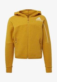 adidas Performance - Zip-up hoodie - leggld/silvmt - 0