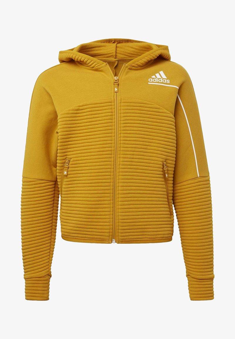 adidas Performance - Zip-up hoodie - leggld/silvmt