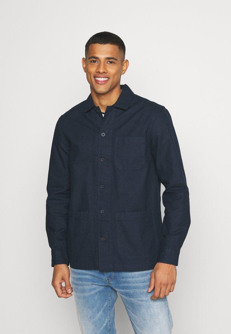 Burton Menswear London - LONG SLEEVE POCKET - Camicia - navy