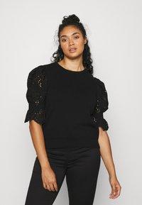 Vero Moda Curve - VMTULIP O-NECK CURVE - Print T-shirt - black - 0