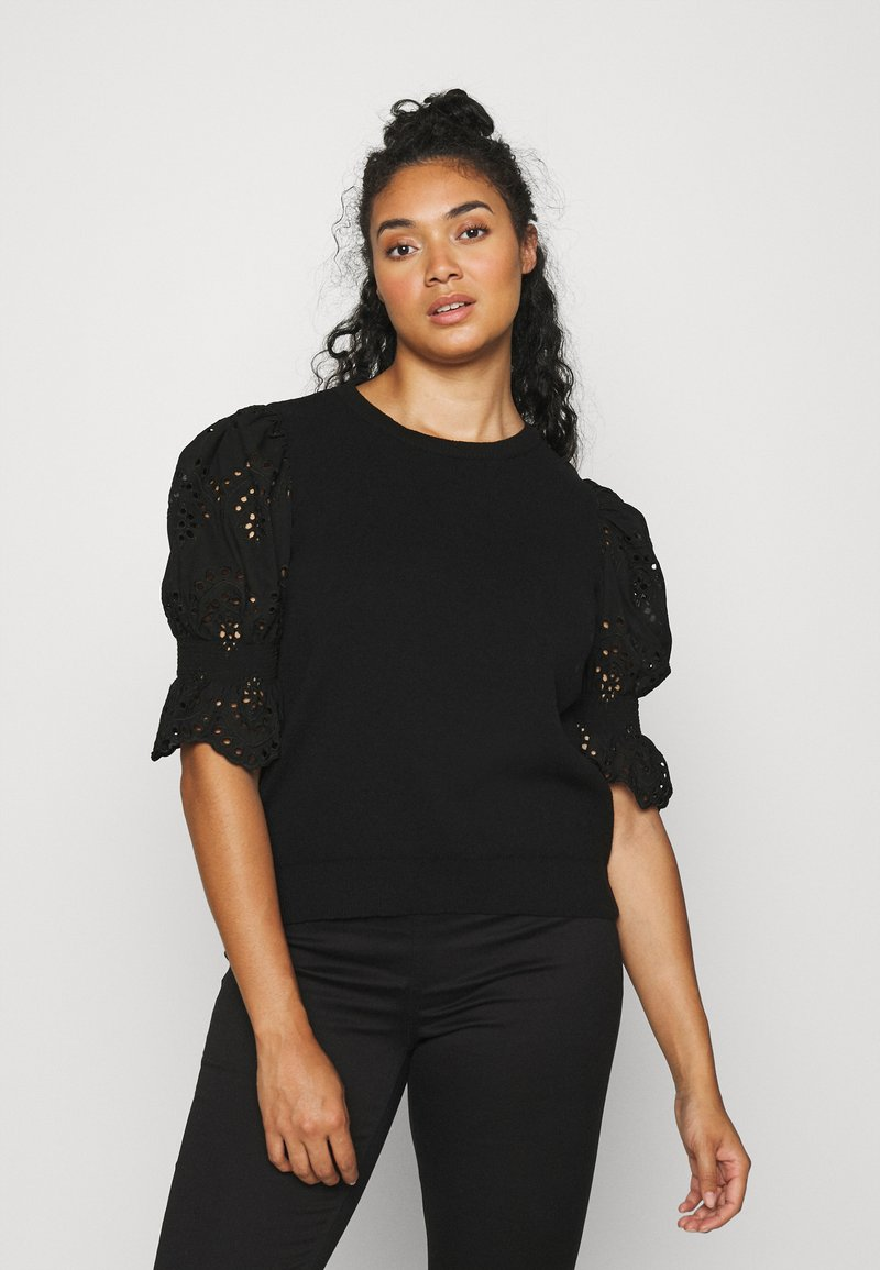 Vero Moda Curve - VMTULIP O-NECK CURVE - Print T-shirt - black