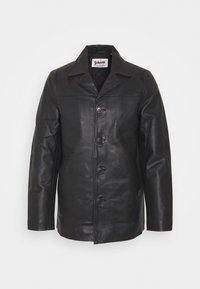 MAIN - Kožená bunda - black