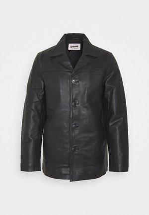 MAIN - Veste en cuir - black