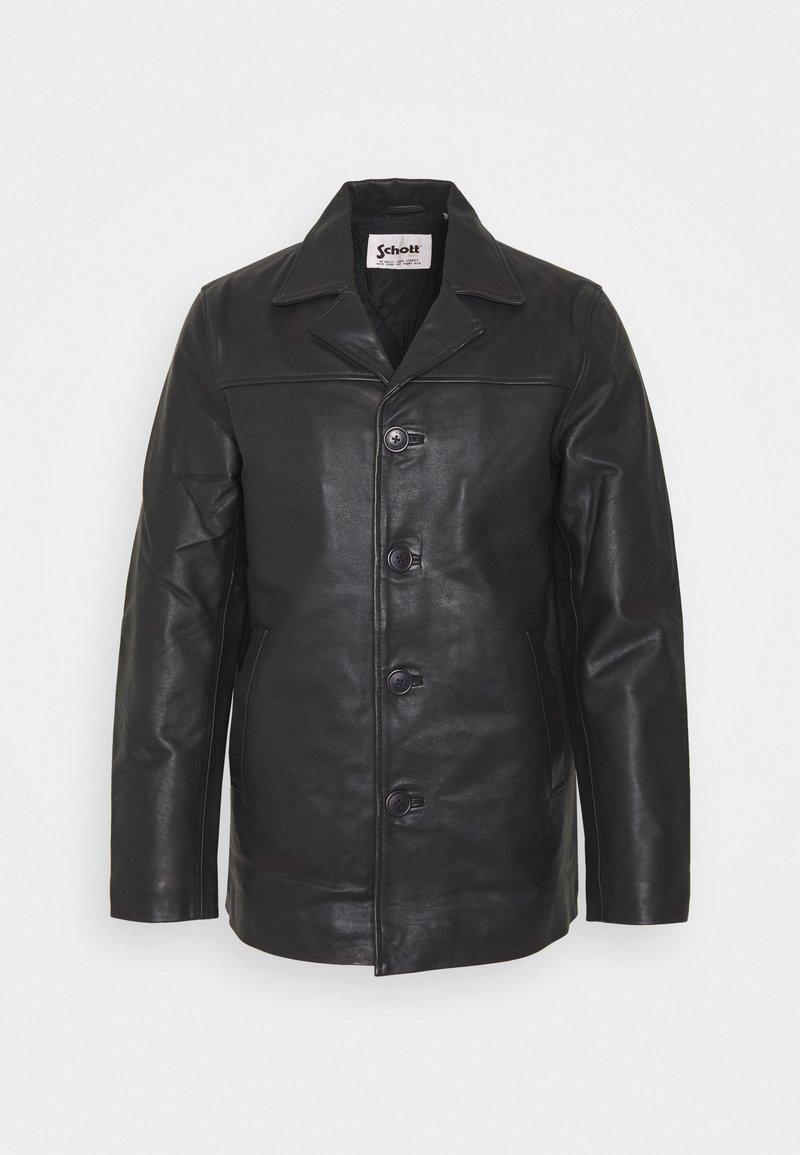 Schott - MAIN - Leather jacket - black