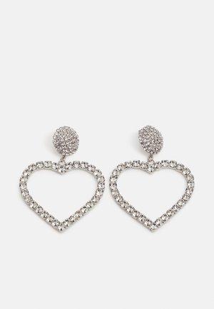 PCCHRIZTINA EARRINGS - Uhani - silver-coloured/clear