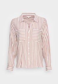 TOM TAILOR DENIM - STRIPED COZY  - Button-down blouse - grey white vertical stripe - 3