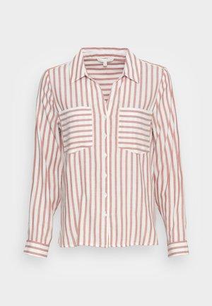 STRIPED COZY  - Camicia - grey white vertical stripe