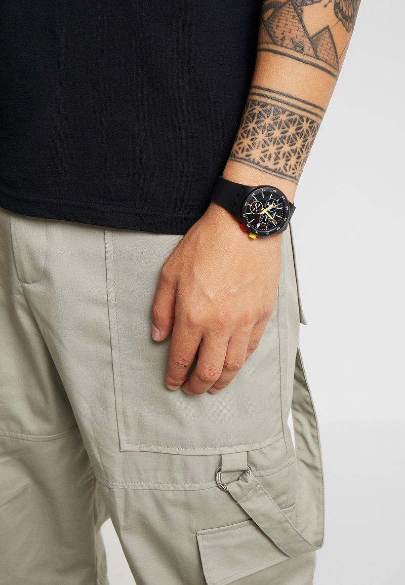 Swatch - ONE - Zegarek chronograficzny - black