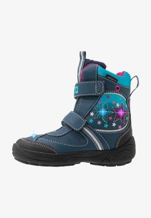 STERN V BLINKY - Winter boots - marine/pink/türkis