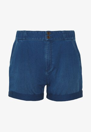 KURZ - Jeans Shorts - blue denim