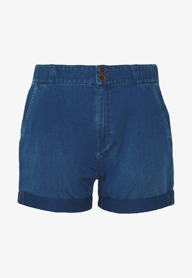 KURZ - Denim shorts - blue denim