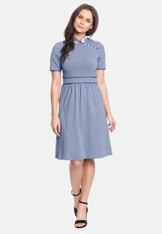 Tokio Suki - Day dress - blau allover