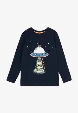 KIDS GLOW IN THE DARK ALIEN SPACESHIP - Longsleeve - nachtblau original