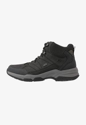 Lace-up ankle boots - schwarz/grau/graphit