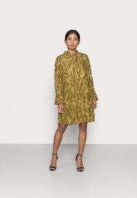 Object Petite - OBJZANIA  DRESS - Day dress - khaki - 0