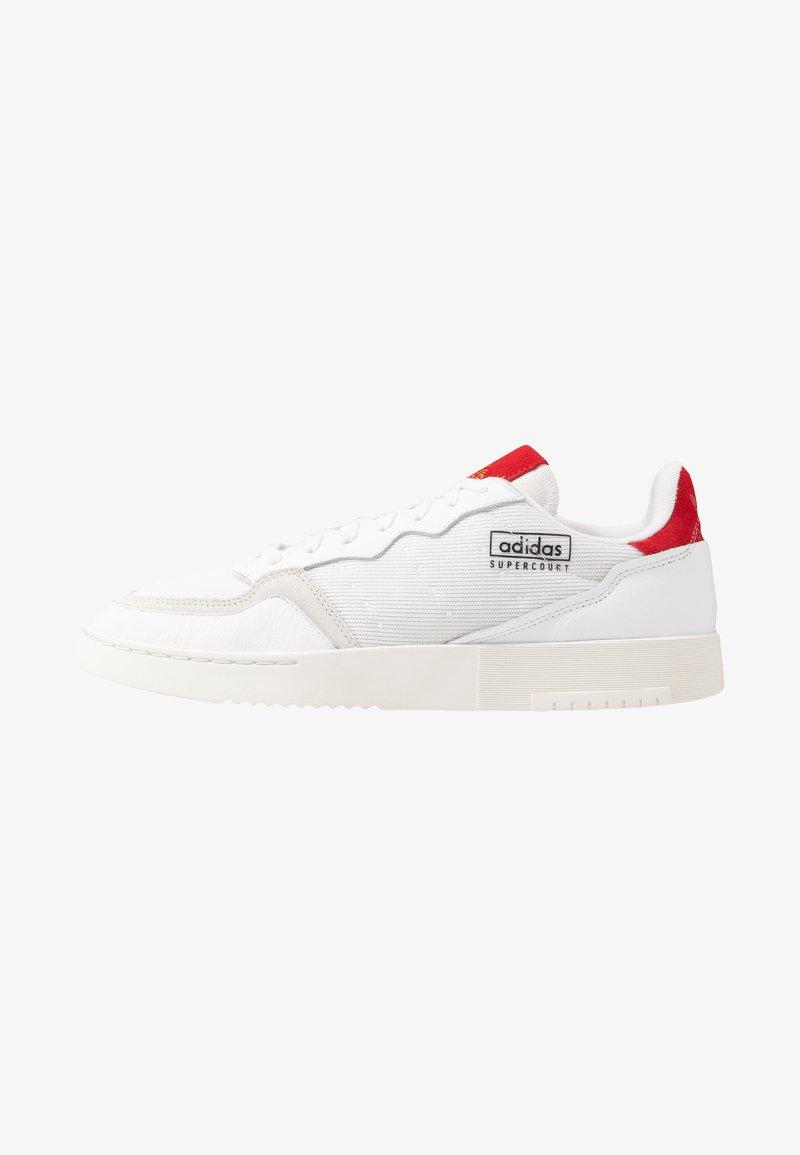 adidas Originals - SUPERCOURT - Trainers - footwear white/scarlet