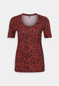 Scotch & Soda - PRINTED SHORT SLEEVE TEE - Print T-shirt - red - 0