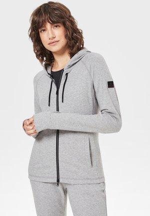 veste en sweat zippée - hellgrau meliert