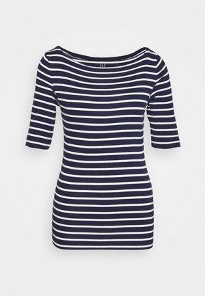 T-shirt z nadrukiem - navy/white