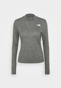 The North Face - W ACTIVE TRAIL WOOL L/S - Funktionströja - black heather - 3