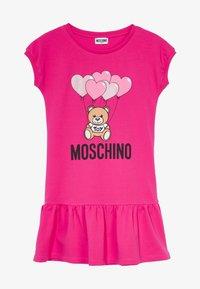 MOSCHINO - DRESS - Denní šaty - fucsia flower - 2
