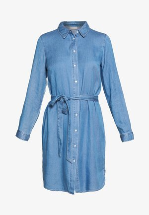 VIBISTA BELT DRESS - Skjortekjole - medium blue denim/clean wash