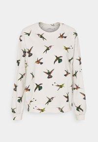 Dedicated - YSTAD RAGLAN HUMMINGBIRDS - Felpa - off-white - 0