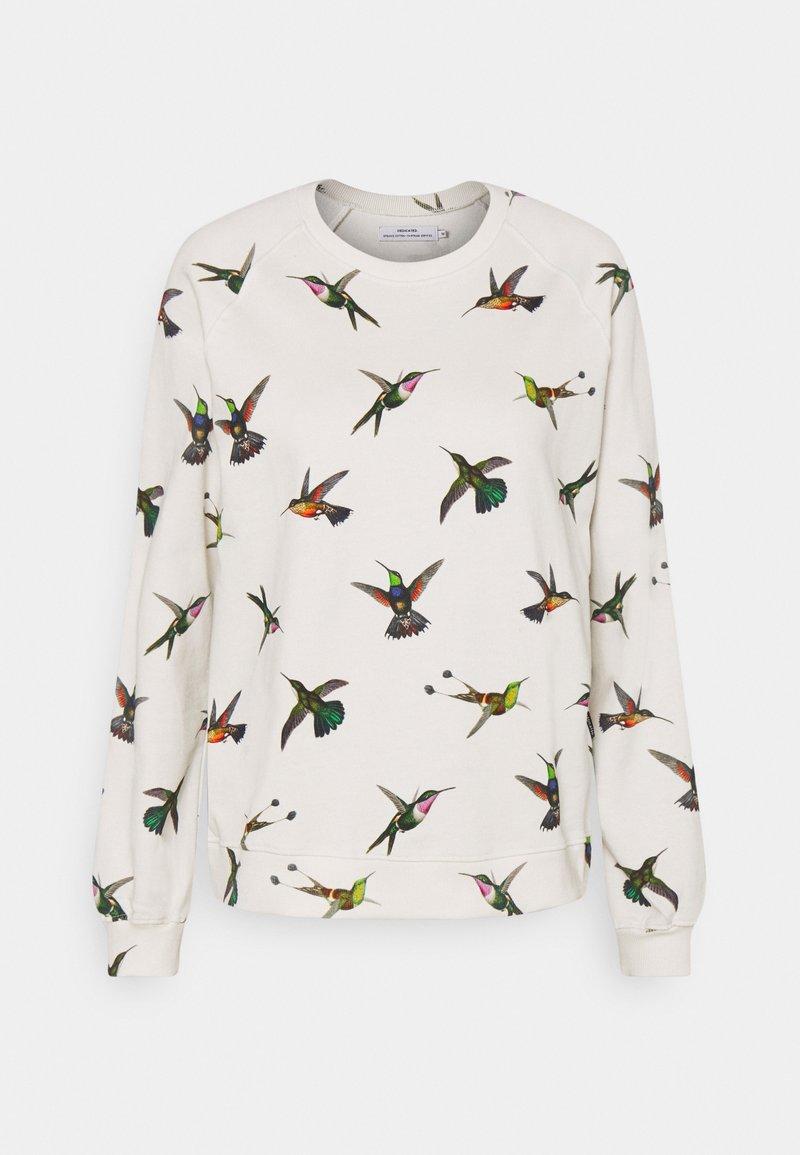 Dedicated - YSTAD RAGLAN HUMMINGBIRDS - Felpa - off-white