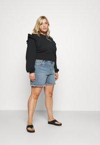 Cotton On Curve - HIGH WAISTED - Denim shorts - brunswick blue - 1