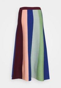 Victoria Victoria Beckham - BLOCK STRIPE SOFT SKIRT - Áčková sukně - wine/multi - 6