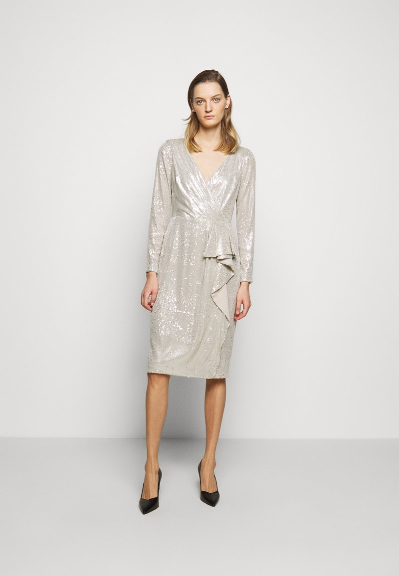 Lauren Ralph Lauren - MILLBROOK DRESS - Koktejlové šaty/ šaty na párty - silver frost shin
