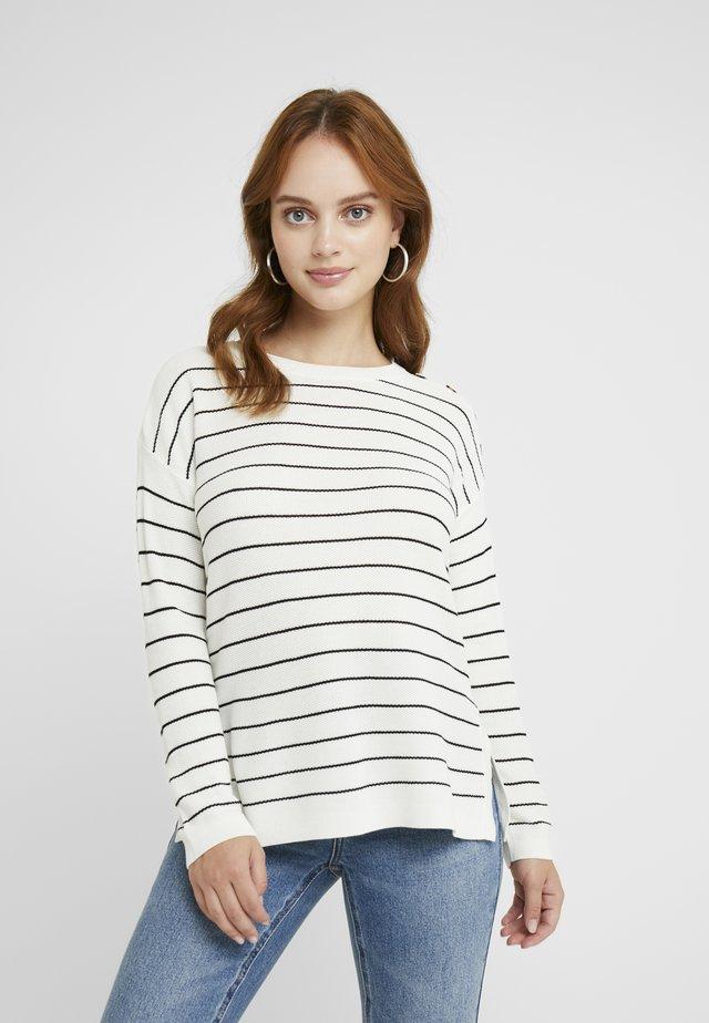 STRIPED - Jersey de punto - off white