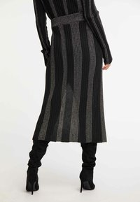 faina - ROCK - Maxi skirt - black - 2