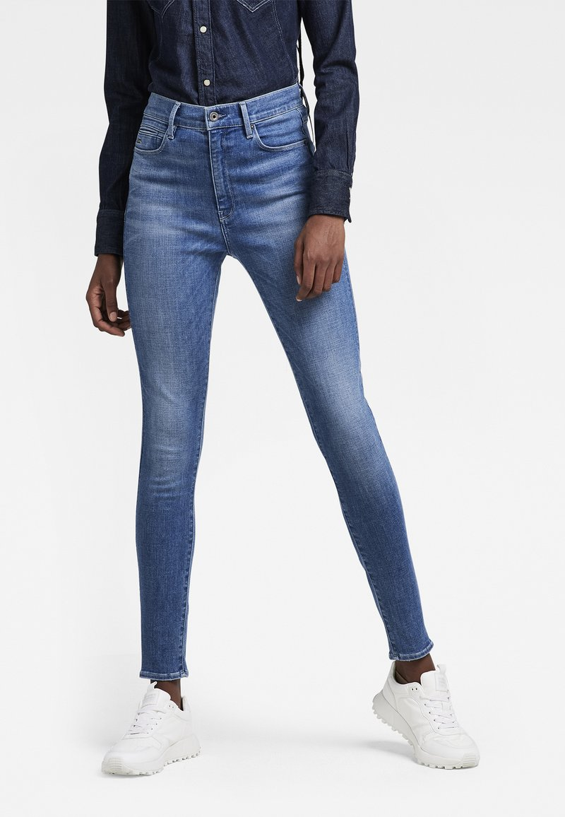 G-Star - G-STAR SHAPE HIGH SUPER SKINNY - Jeans Skinny Fit - medium aged