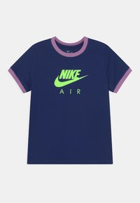 Nike Sportswear - RINGER TEE - T-shirt print - blue void/violet shock - 0