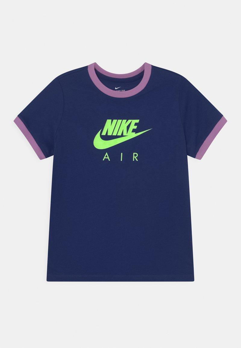 Nike Sportswear - RINGER TEE - T-shirt print - blue void/violet shock