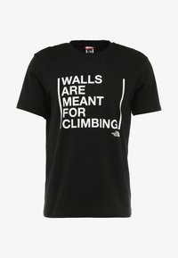 The North Face - WALLS CLIMB TEE - Triko s potiskem - black - 4