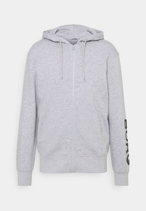 LOGO JACKET - Zip-up hoodie -  light grey melange