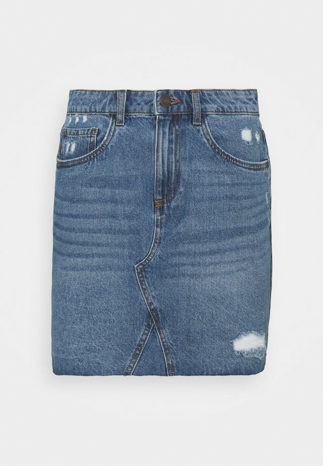 NMFREJA DESTROY SKIRT  - Miniskjørt - light blue denim