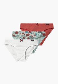 Skiny - GIRLS RIO 3 PACK - Kalhotky - white/turquoise - 0